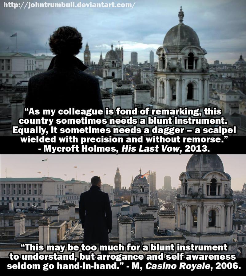 Rooftop Sherlock Bond by johntrumbull