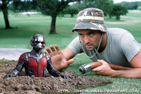 Ant-Man meets Carl Spackler! by johntrumbull