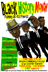 Black History Month Comedy Show Poster - Jan. 2015