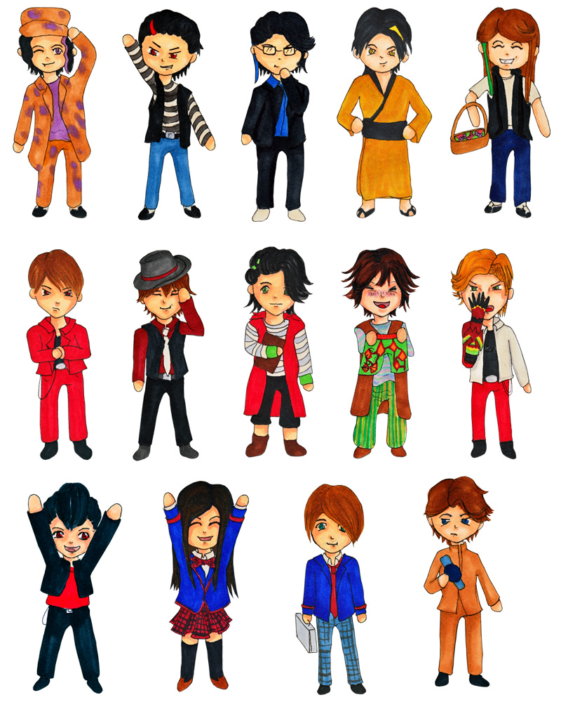 Keychains: Kamen Rider (Den-O, Fourze, OOO, W)