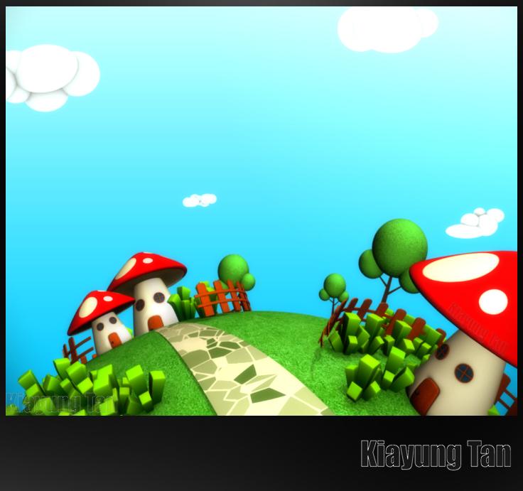 Mushroom House by kiayt