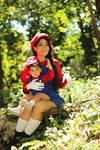 Baby Mario and Mario Cosplay