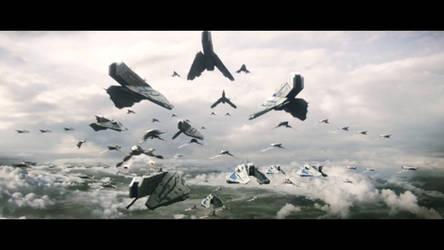 Mass Effect 3 battle for Earth by SupermanLovesAspen
