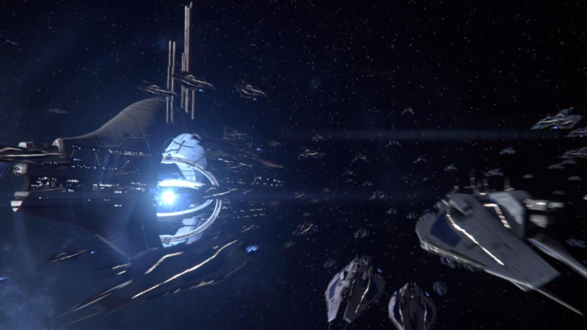 Mass Effect 3 - The Fleet arrives by SupermanLovesAspen