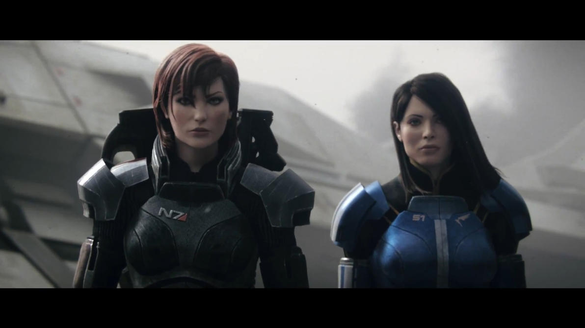 Mass Effect 3 - Jane and Ashley by SupermanLovesAspen