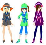 Shine Girls in Rain Coats