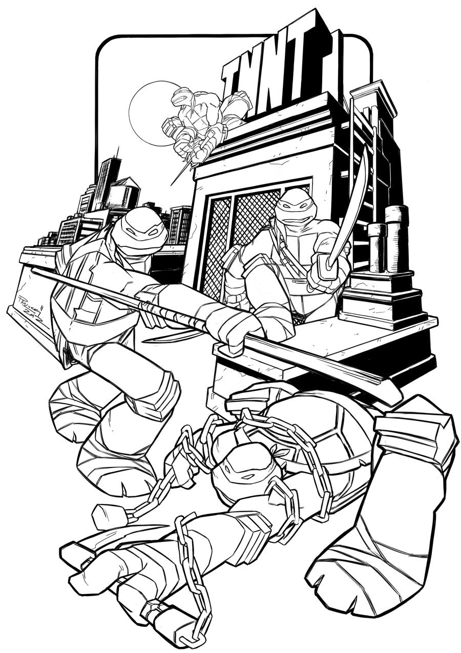 tmnt coloring pages ralph 2012 - photo#24