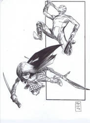 Kick-Ass / Hit Girl by RobPaolucci