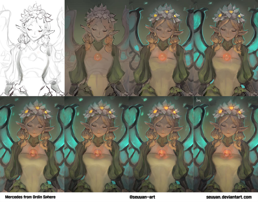 Mercedes from Odin sphere Step by step by Seuyan