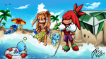 Summer Seaside Shore  [Collab} by Decision-To-Protect