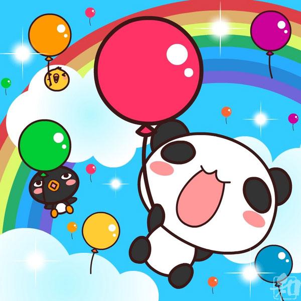 Balloon panda by wachachai