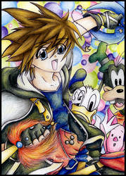 Sora and Friends KH2 by Freeglader