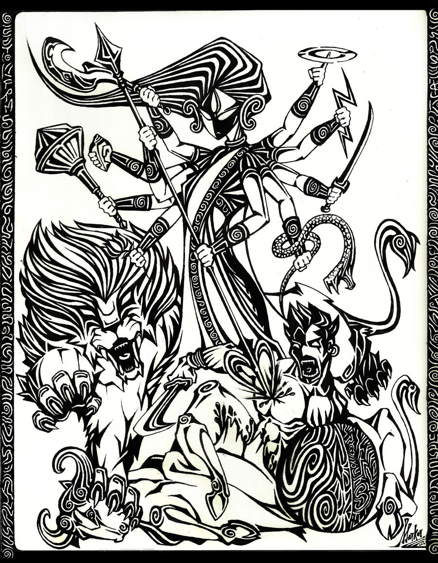 Durga the Goddess by Souravmad