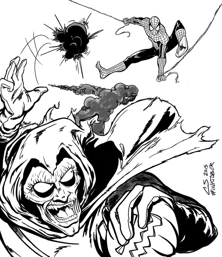 Spider-man and Hobgoblin by Citrusman19