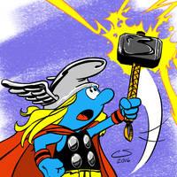 ThorSmurfofThunder by Citrusman19