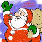 Santa Claus and Papa Smurf