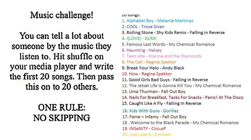 Music Challenge! by AnimeNerdCosplays01