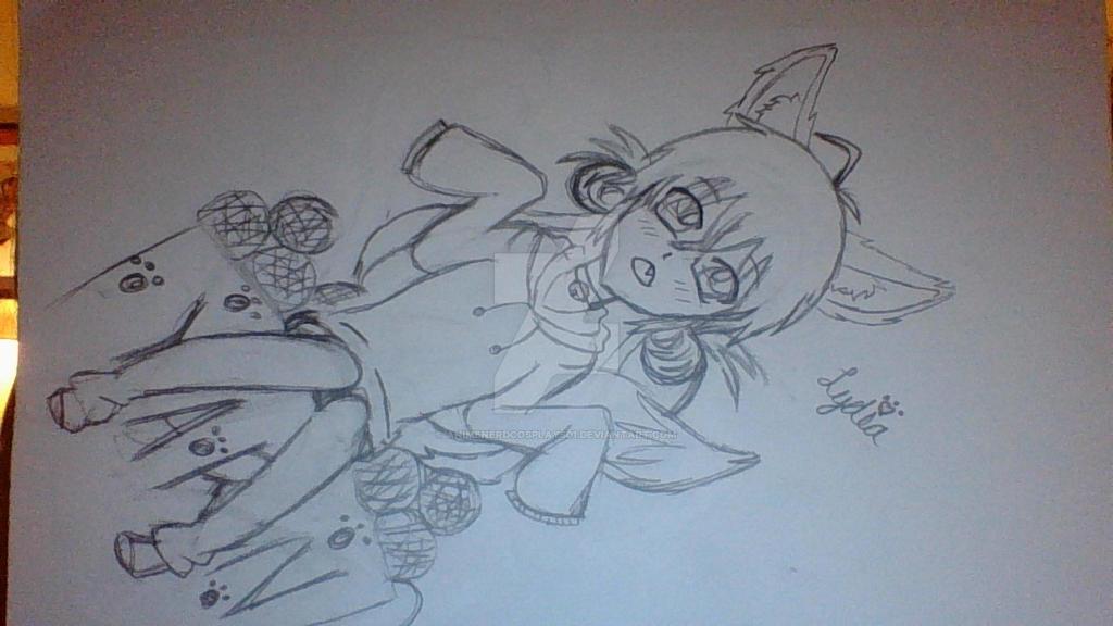 Lydia {Non-Fandom Fox OC} Drawing by AnimeNerdCosplays01