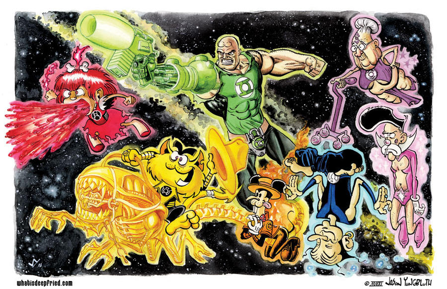 the brown lantern corps by weaponbrown on deviantart