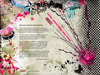 Bleeding Star Clothing Webpage by ABeautifulTragedy