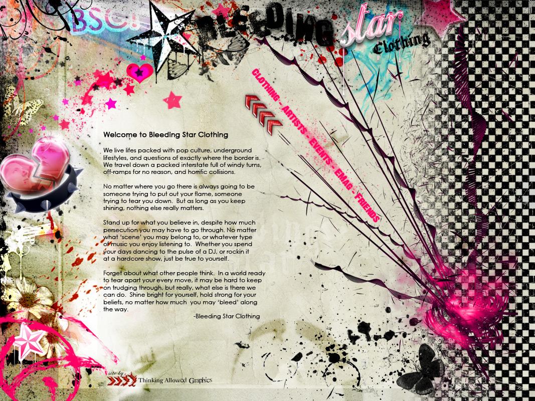 Bleeding Star Clothing Webpage