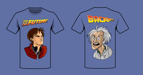 Back to the Future art test by BigOx2daBox