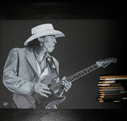Stevie Ray Vaughan by mgclz