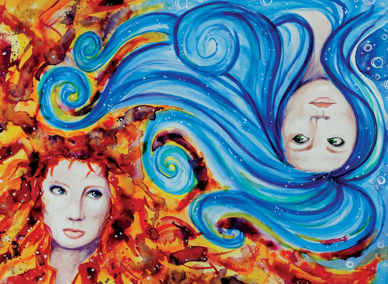 Elements Of Art Painting : Opposing elements by bettypimm on deviantart