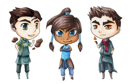 Legend of Korra (chibi) by BettyPimm