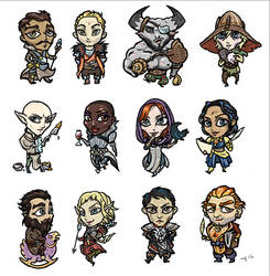 Dragon Age Inquisition companions and advisors by shivikai
