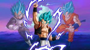 Gogeta SSJ Blue Wallpaper V2