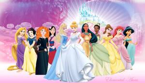 Merida with the Disney Princesses