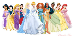 NEW Merida with the Disney Princesses