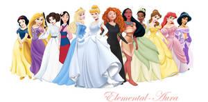 Disney Princesses with Leia