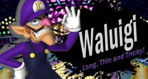 Waluigi SSB4 Request by Elemental-Aura