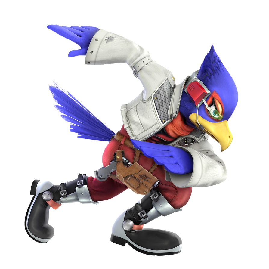 LARGE SSB4 render requests: Falco by Elemental-Aura