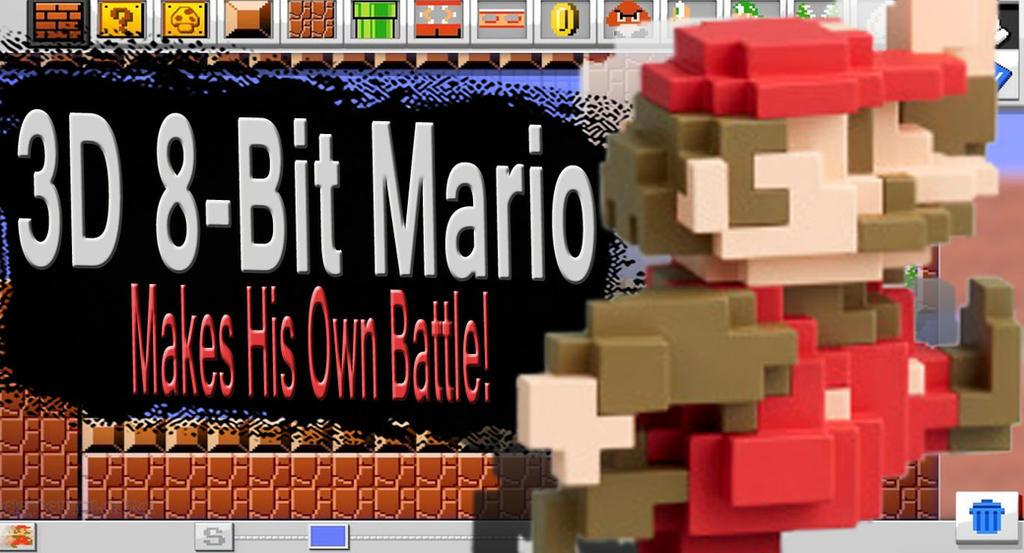 3D 8-Bit Mario SSB4 Request by Elemental-Aura on DeviantArt