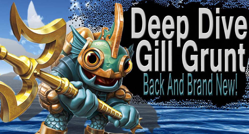 Deep Dive Gill Grunt SSB4 Request by Elemental-Aura