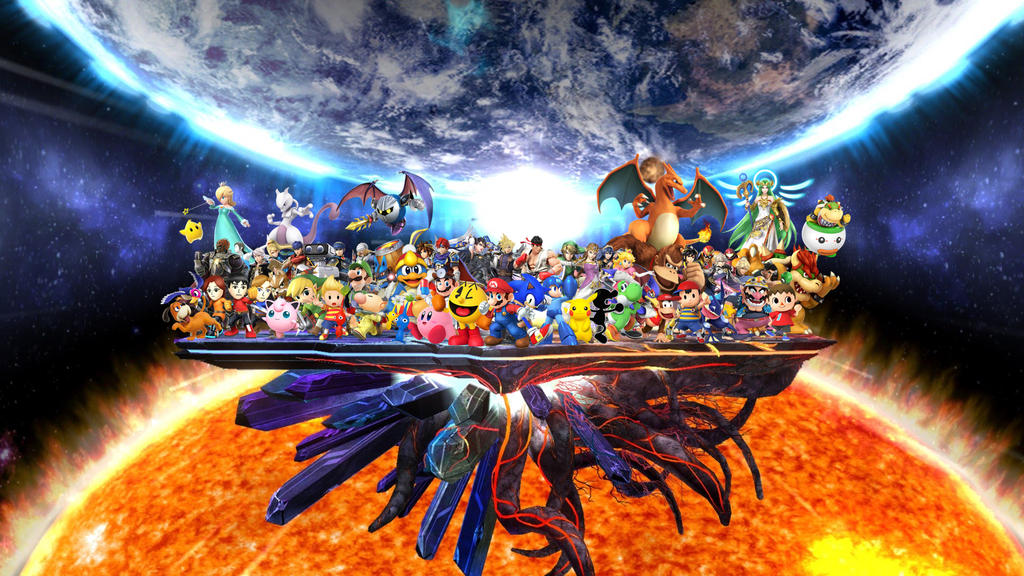 Wii U Screen Savers : Super smash bros complete roster by elemental aura on