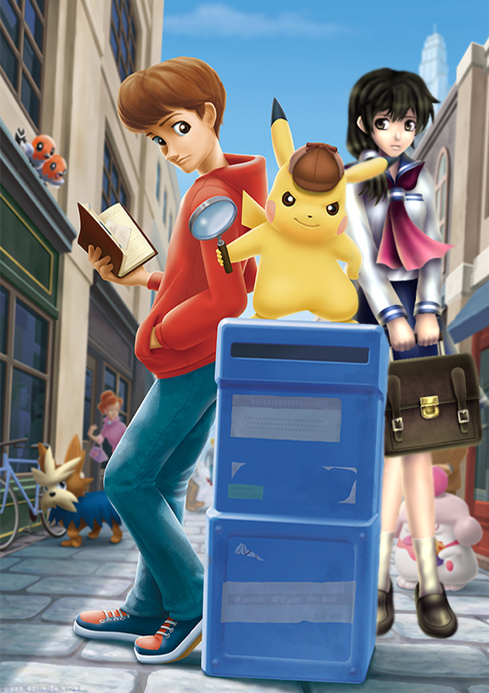 Detective Pikachu meets Ayumi Tachibana by Elemental-Aura