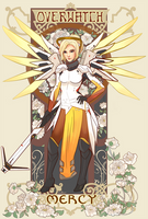 Overwatch Nouveau: Mercy by Kasu-kan