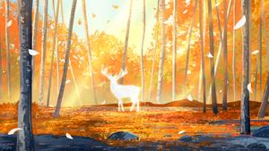 Orange deer
