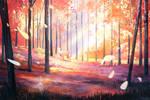 Sakura Deer by kloir