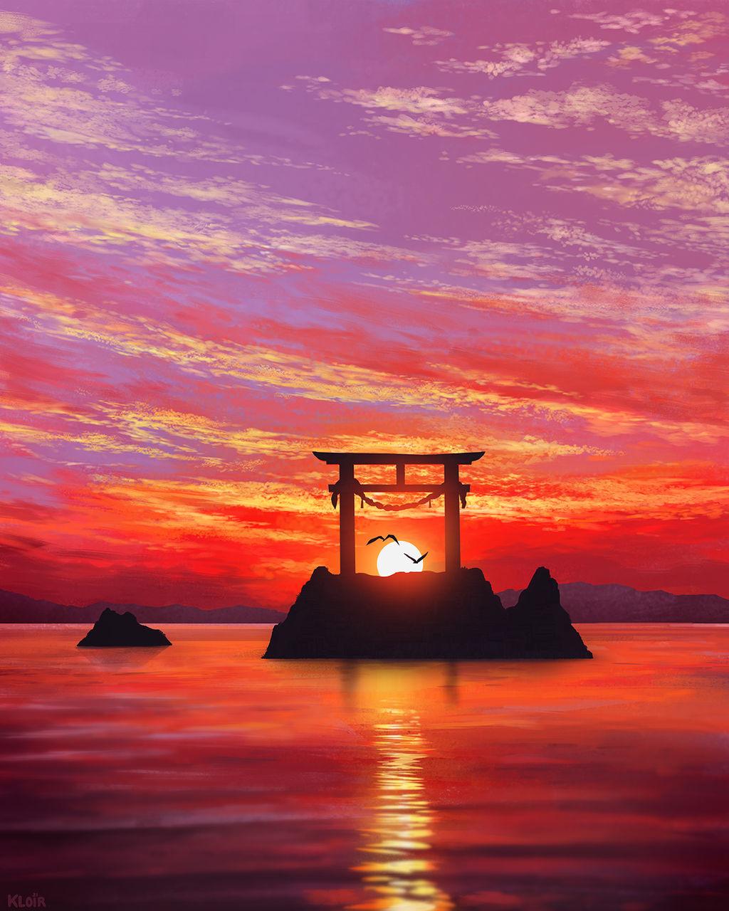 Torii Sunset