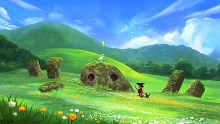 Little Witch's Journey: Green Fields