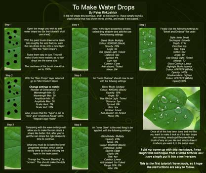 Water Drop Tutorial by Psycho-pete