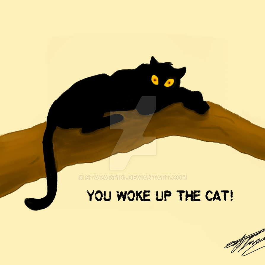 You Woke Up The Cat! by StarArt101