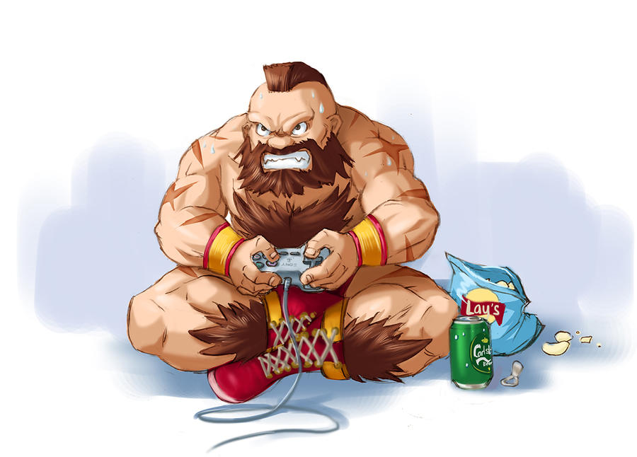 Zangief during weekends by Tarhoay