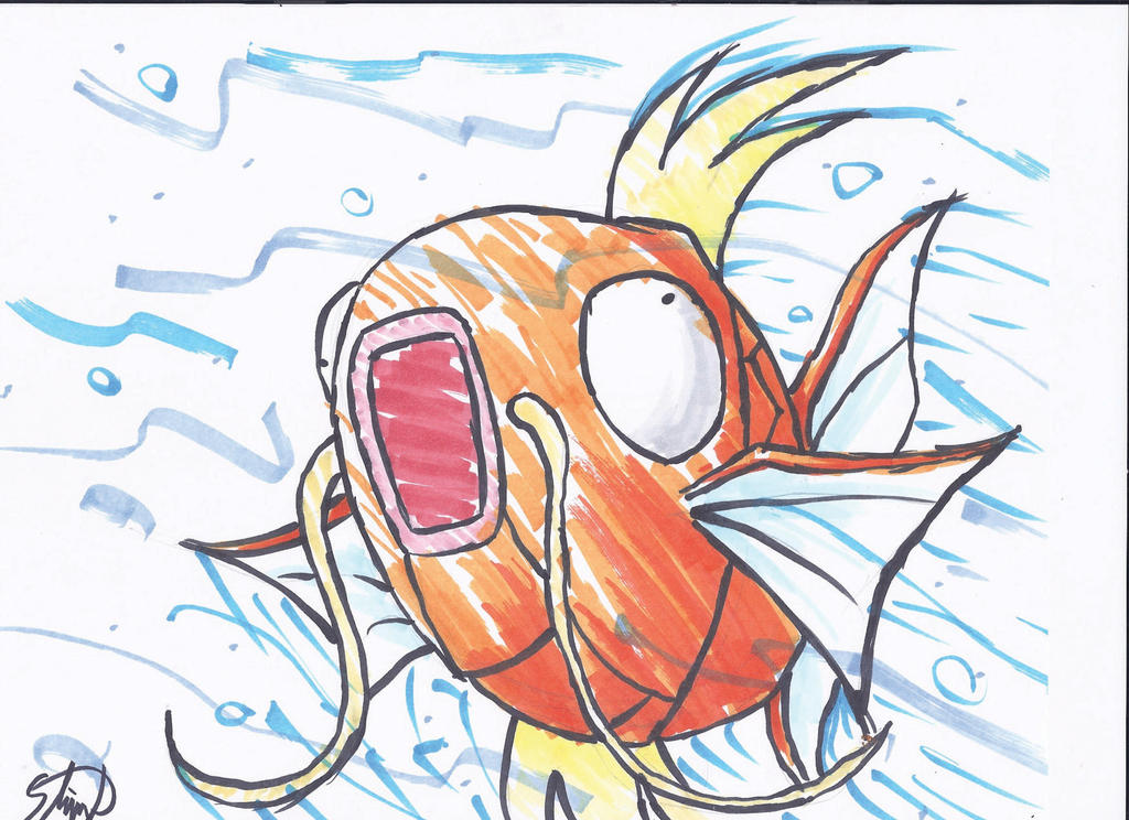 Copic Magikarp by StamayoStudio