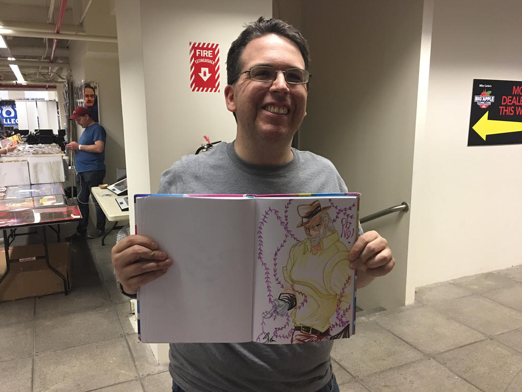 Big Apple Con Joseph Joestar quick sketch by StamayoStudio